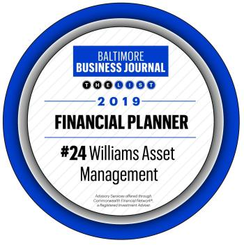 Baltimore Business Journal Financial Planner award