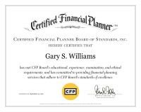 CFP Certificate_Gary Williams